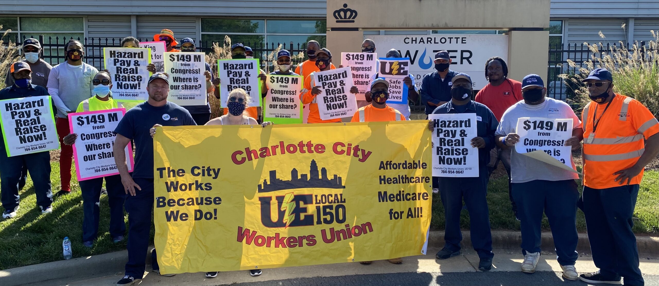 Charlotte City workers demand rescue from the American Rescue Plan including hazard pay and a real raise
