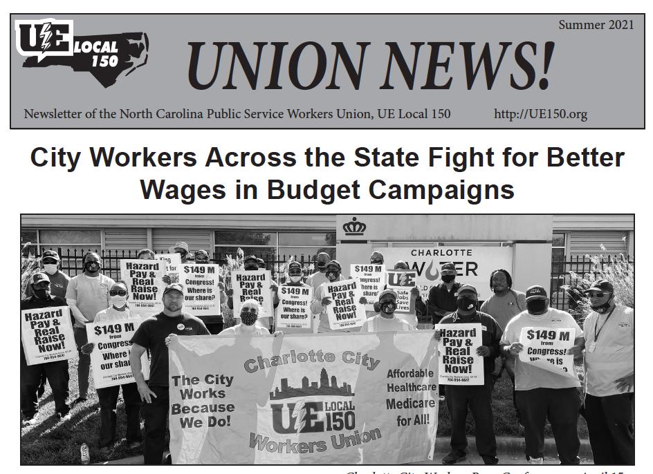 City Worker Newsletter, Summer 2021